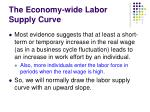 the economy wide labor supply curve