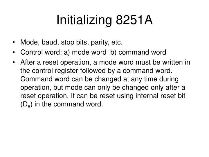 Initializing 8251A