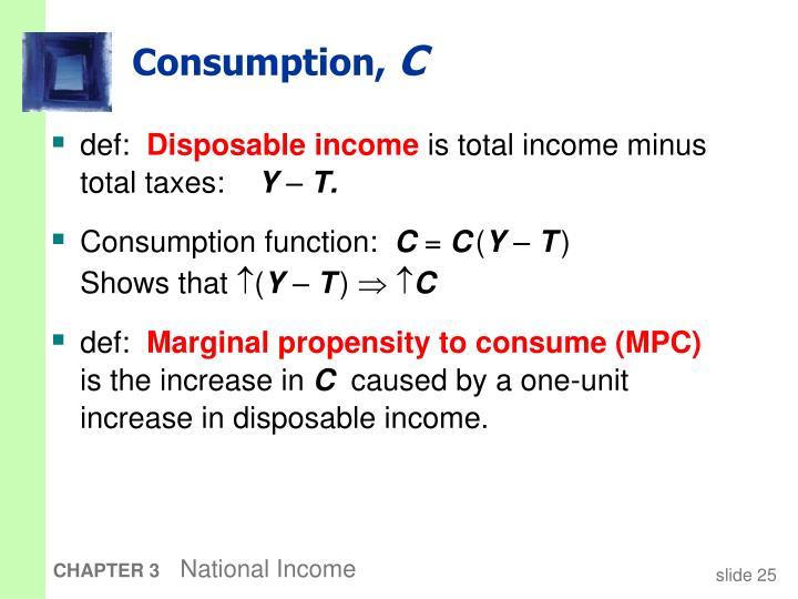 Consumption,