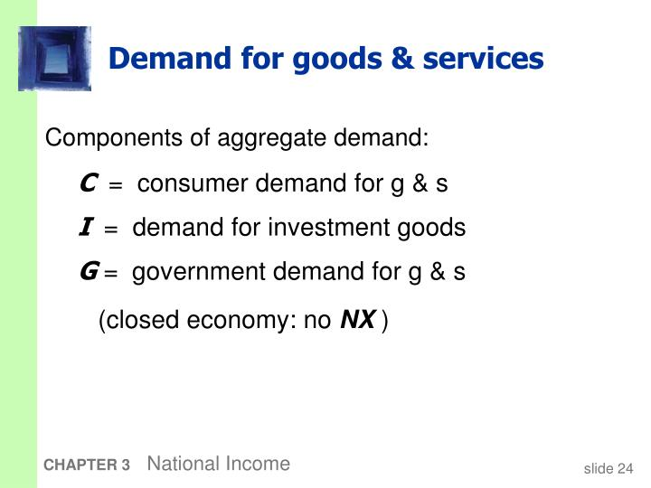 Demand for goods & services