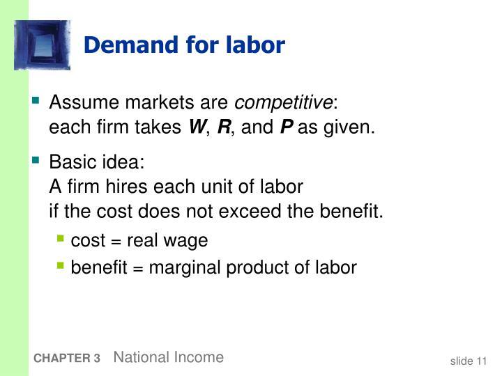 Demand for labor