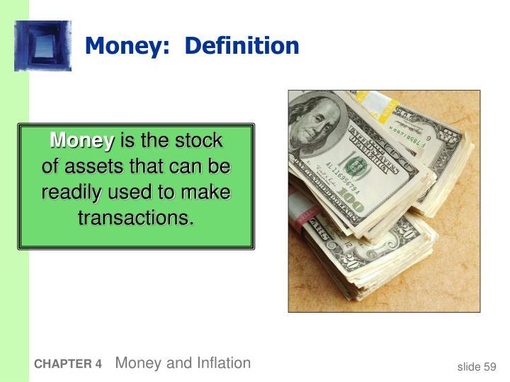 Money:  Definition