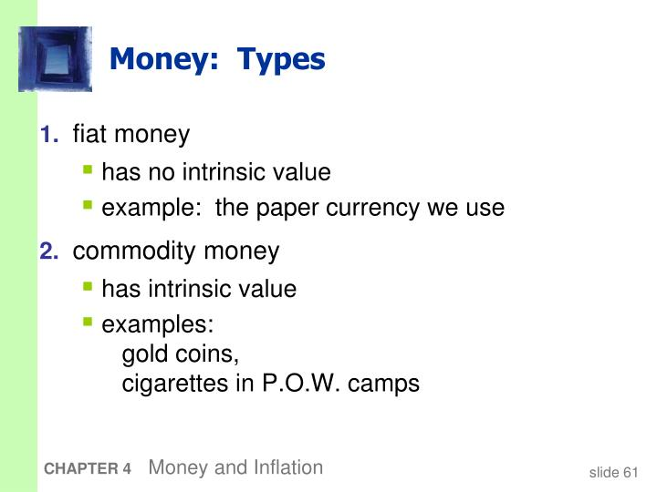 Money:  Types