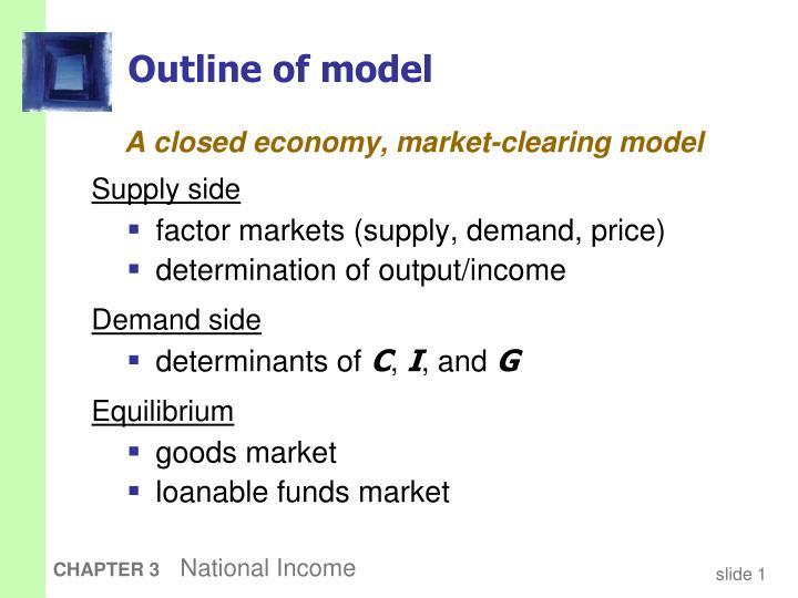 Outline of model