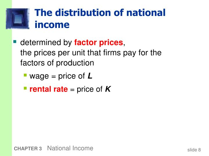 The distribution of national income