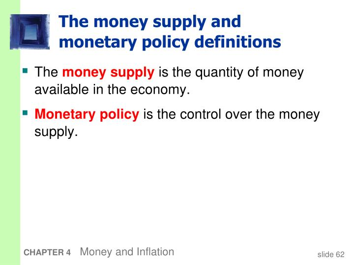 The money supply and