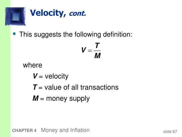 Velocity,