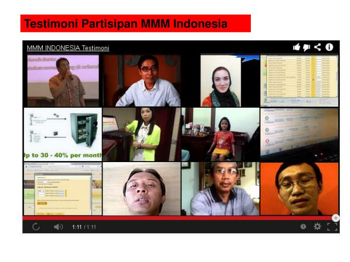 Testimoni Partisipan MMM Indonesia