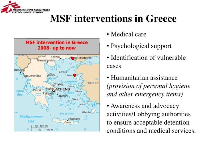 MSF interventions in Greece