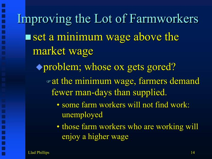Improving the Lot of Farmworkers