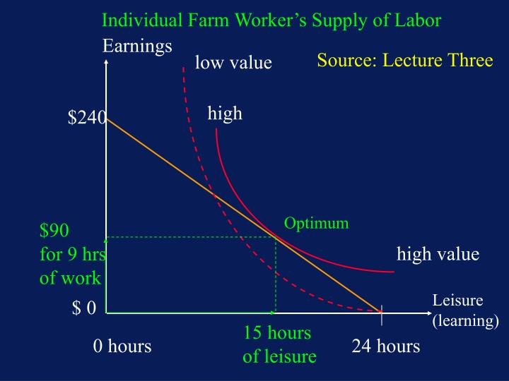 Individual Farm Worker's Supply of Labor