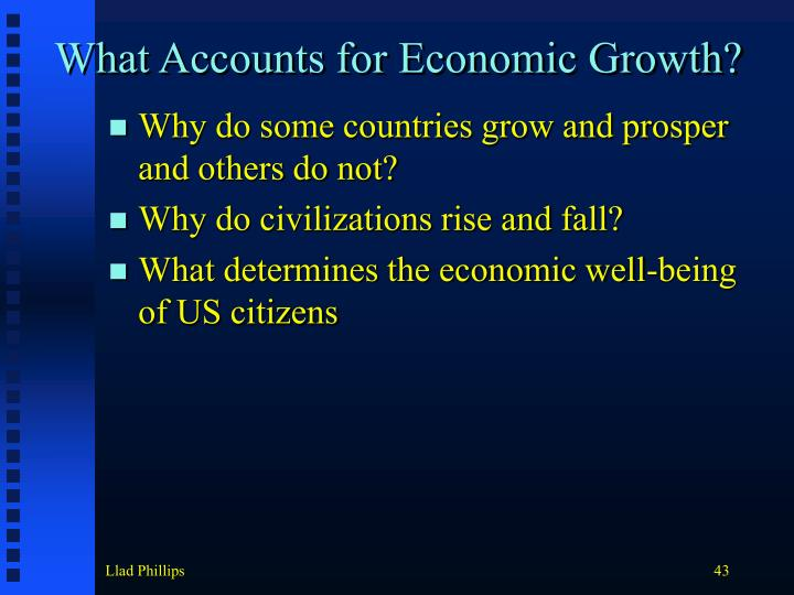 What Accounts for Economic Growth?