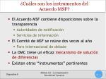 cu les son los instrumentos del acuerdo msf