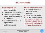 el acuerdo msf1