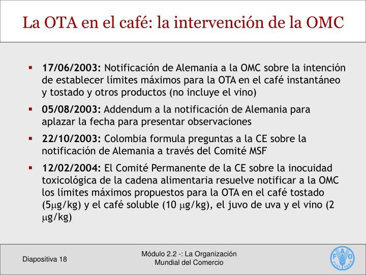 La OTA en el café: la
