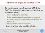 qu son las reglas del acuerdo msf