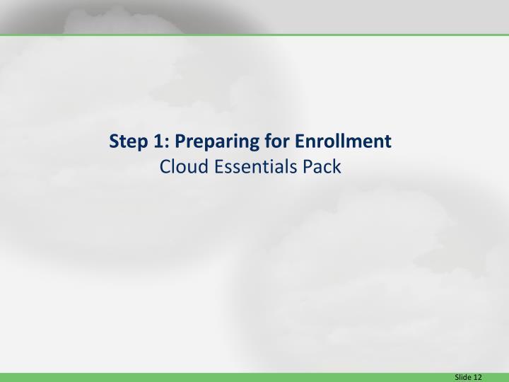 Step 1: Preparing for Enrollment