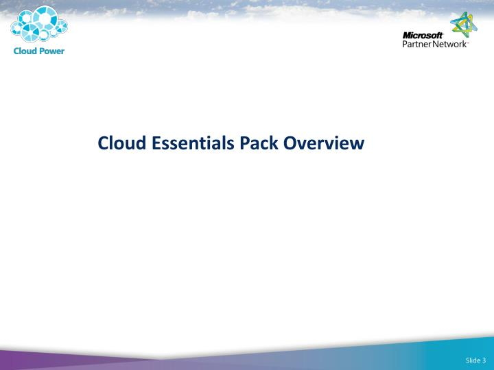 Cloud Essentials Pack Overview