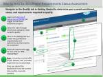 step 1c thru 2a enrollment requirements status assessment