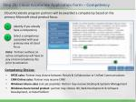 step 2b cloud accelerate application form competency