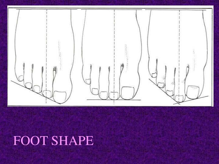FOOT SHAPE