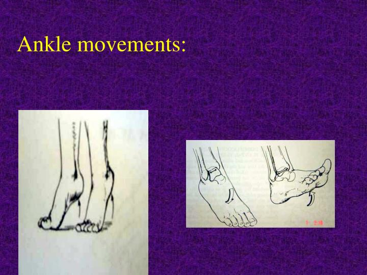 Ankle movements:
