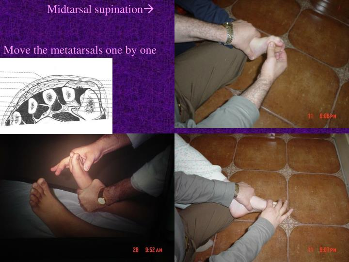 Midtarsal supination