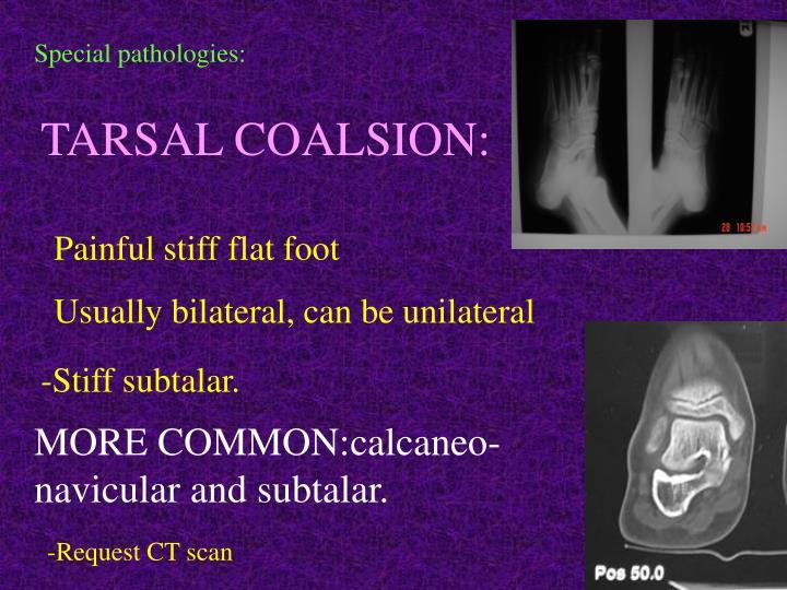 Special pathologies:
