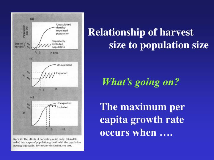 Relationship of harvest