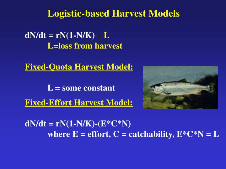 Logistic-based Harvest Models