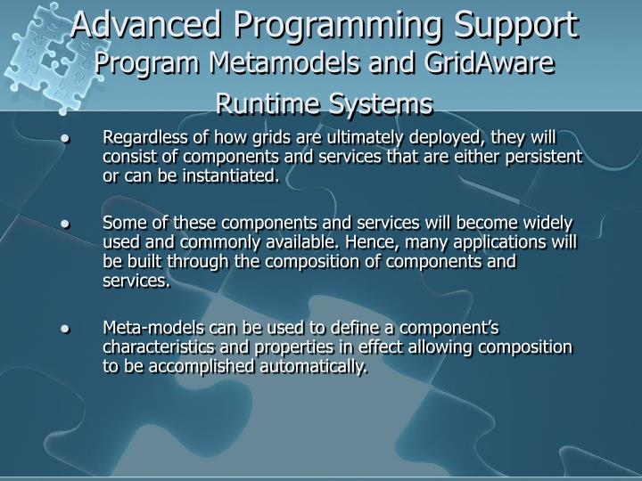 Advanced Programming Support