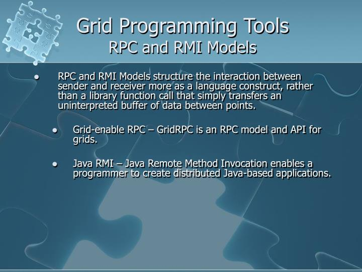 Grid Programming Tools