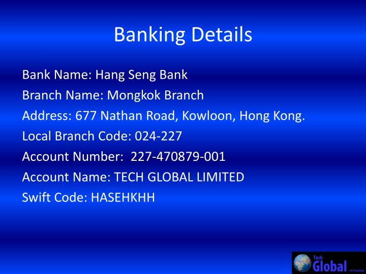 Banking Details