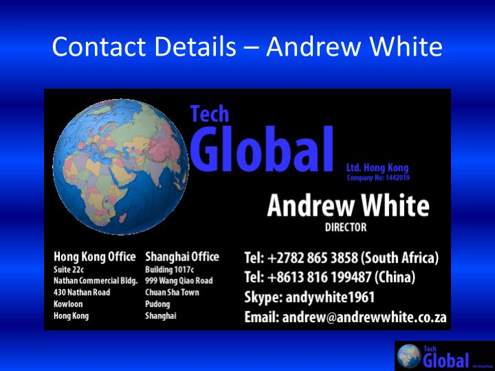 Contact Details – Andrew White