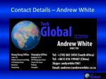 contact details andrew white
