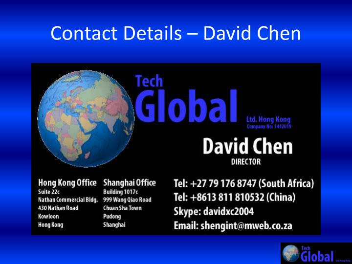 Contact Details – David Chen