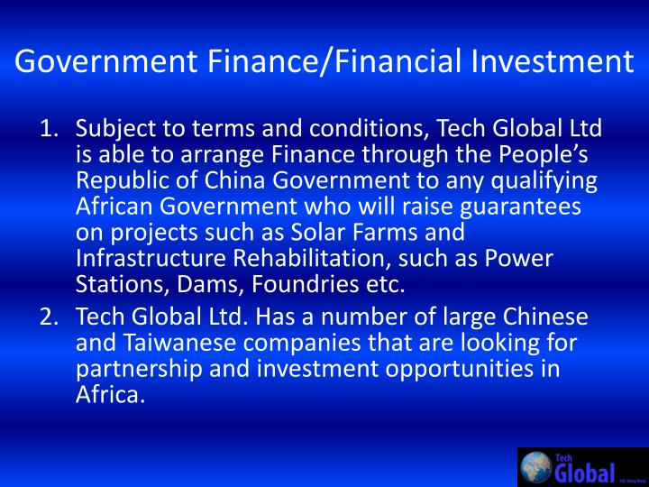 Government Finance/Financial Investment