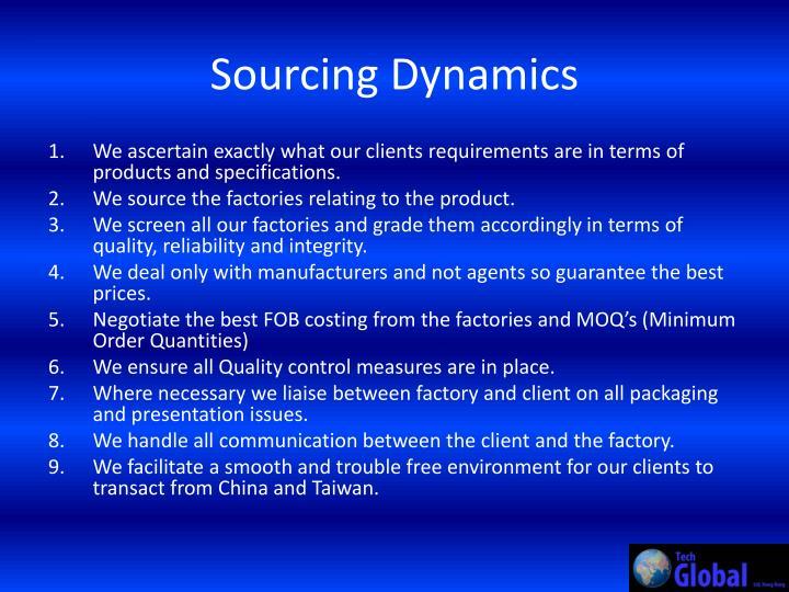 Sourcing Dynamics