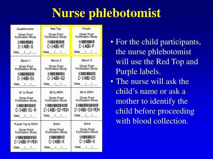 Nurse phlebotomist