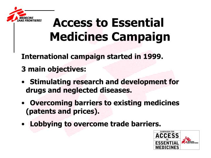 Access to Essential Medicines Campaign