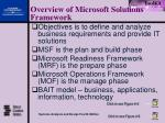overview of microsoft solutions framework