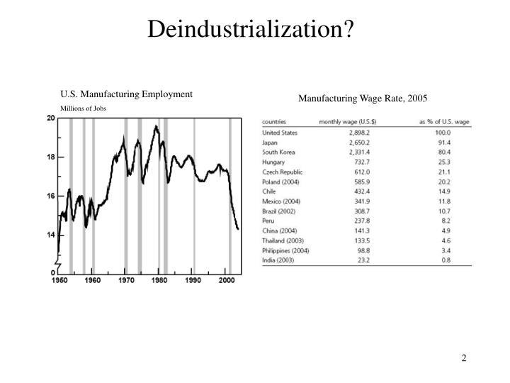 Deindustrialization?