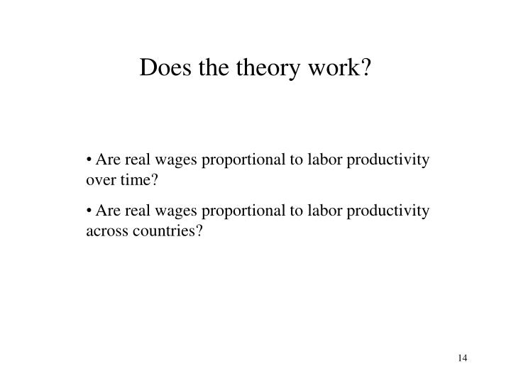 Does the theory work?