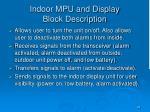 indoor mpu and display block description