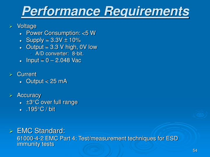 Performance Requirements