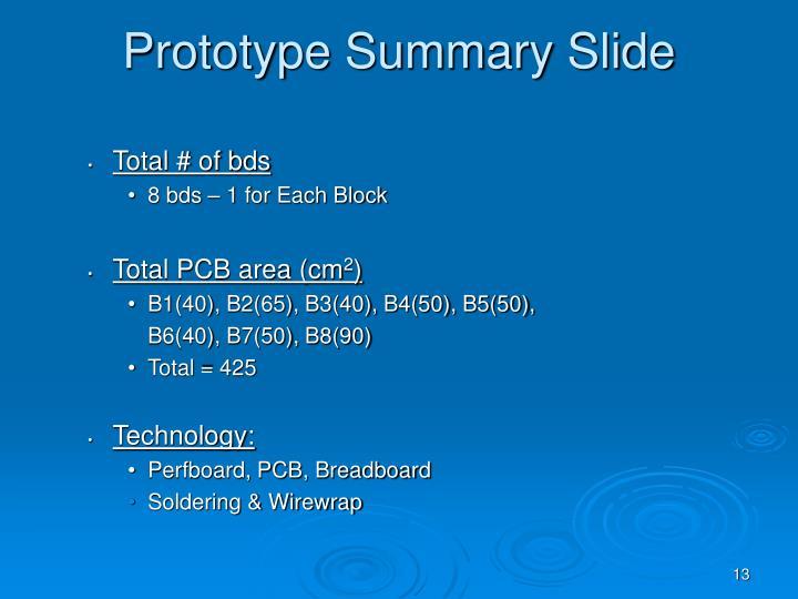 Prototype Summary Slide