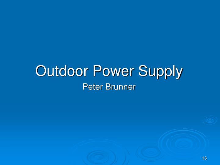 Outdoor Power Supply