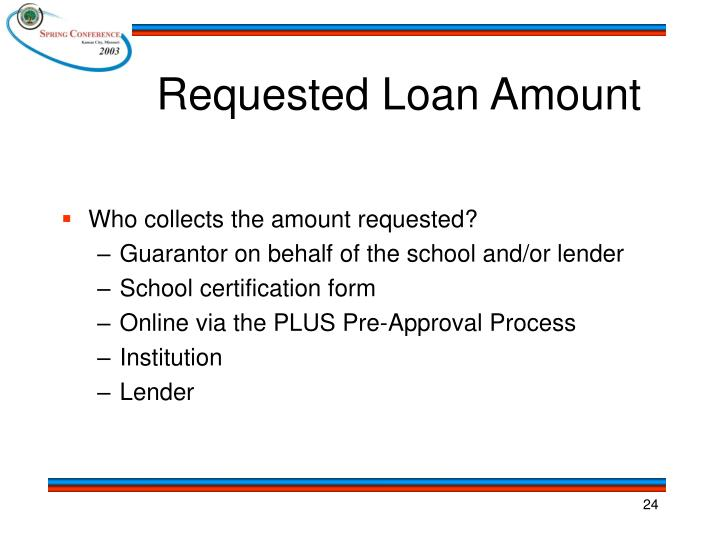 Requested Loan Amount