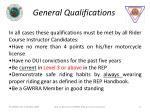 general qualifications