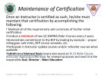 maintenance of certification